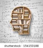 book shelf in form of head on...   Shutterstock . vector #156153188