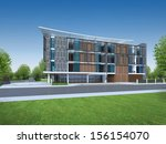 3d render of modern building | Shutterstock . vector #156154070