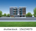 3d render of modern building | Shutterstock . vector #156154073