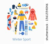 winter sports accessories... | Shutterstock .eps vector #1561554046