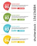 vector number options banner... | Shutterstock .eps vector #156156884