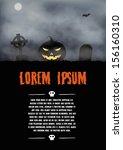 halloween greeting card. vector ... | Shutterstock .eps vector #156160310