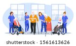 nurse taking care about seniors ... | Shutterstock .eps vector #1561613626