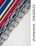 paper vintage and metal chain... | Shutterstock . vector #156163124