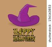 vector halloween design... | Shutterstock .eps vector #156163853