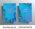 design wedding invitation card... | Shutterstock .eps vector #1561654423