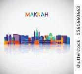 makkah skyline silhouette in...   Shutterstock .eps vector #1561660663