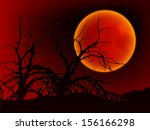 card for halloween. night... | Shutterstock . vector #156166298