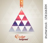 triangle pattern background ... | Shutterstock .eps vector #156166304