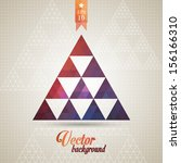 triangle pattern background ... | Shutterstock .eps vector #156166310