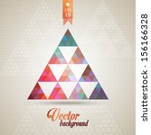 triangle pattern background ... | Shutterstock .eps vector #156166328