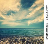 sea water and beautiful clouds... | Shutterstock . vector #156166994