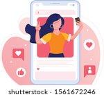 influencer or social media...   Shutterstock .eps vector #1561672246