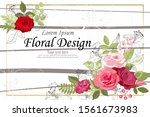 the rose elegant card. doodle.  ... | Shutterstock .eps vector #1561673983