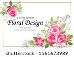 the rose elegant card. doodle.  ... | Shutterstock .eps vector #1561673989