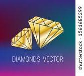 golden diamond background.... | Shutterstock .eps vector #1561685299