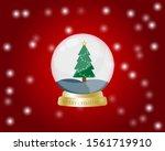 merry christmas glass ball...   Shutterstock .eps vector #1561719910