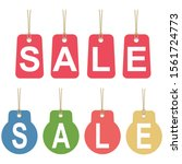 sale labels. label tag isolated ... | Shutterstock .eps vector #1561724773
