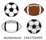 soccer ball and american... | Shutterstock .eps vector #1561726459