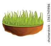 grass soil icon. cartoon of... | Shutterstock .eps vector #1561745986
