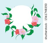 flower frame background design  ... | Shutterstock .eps vector #1561748350