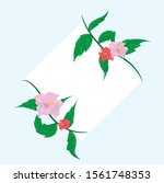 flower frame background design  ... | Shutterstock .eps vector #1561748353