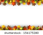 autumn background with white... | Shutterstock .eps vector #156175280