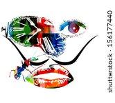 salvador dali inspired artwork...   Shutterstock .eps vector #156177440