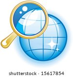 global search glossy vector icon | Shutterstock .eps vector #15617854