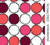 seamless design.round geometric ... | Shutterstock .eps vector #1561799176