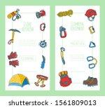 hiking equipment vector...   Shutterstock .eps vector #1561809013