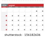 august 2014 planning calendar | Shutterstock .eps vector #156182636