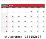 may 2014 planning calendar | Shutterstock .eps vector #156182639
