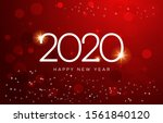 happy new year 2020 vector... | Shutterstock .eps vector #1561840120