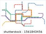 colorful metro transportation...   Shutterstock .eps vector #1561843456