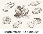 bakery products. set of vector... | Shutterstock .eps vector #156186359