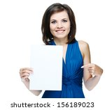young beautiful girl in a blue... | Shutterstock . vector #156189023