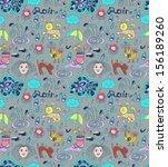 rain cartoon seamless... | Shutterstock .eps vector #156189260