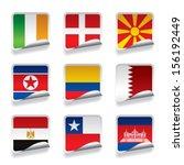 vector set of world sticker...   Shutterstock .eps vector #156192449