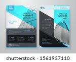 corporate business cover and... | Shutterstock .eps vector #1561937110