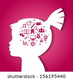 vector illustration of child... | Shutterstock .eps vector #156195440