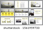 yellow and white presentation... | Shutterstock .eps vector #1561959733
