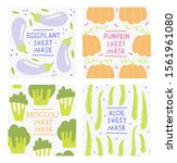 facial sheet mask sachet... | Shutterstock .eps vector #1561961080