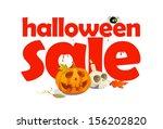halloween sale design written... | Shutterstock .eps vector #156202820