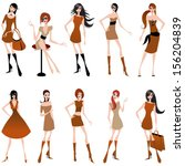 vector set of hand drawn style... | Shutterstock .eps vector #156204839