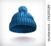 knitted blue cap  vector...   Shutterstock .eps vector #156205289
