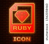 glowing neon ruby file document.... | Shutterstock .eps vector #1562058460