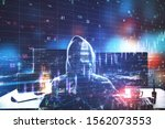 big data and hacking concept.... | Shutterstock . vector #1562073553