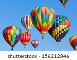 colorful hot air balloons... | Shutterstock . vector #156212846
