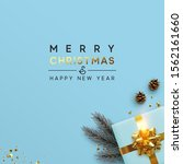 merry christmas and happy new... | Shutterstock .eps vector #1562161660
